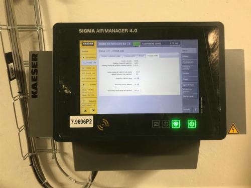Ovládácí panel kompresorové stanice