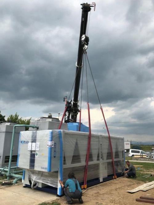 Instalace průmysového chladiče MTA GALAXY TECH