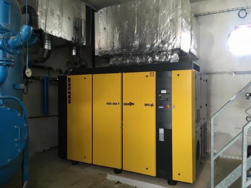 Instalace kompresorové stanice pro výrobce barev
